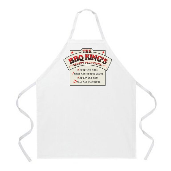 BBQ King Recipe Apron in Natural by Attitude Aprons by L.A. Imprints