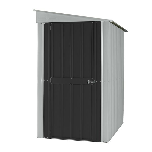 4 ft. 1 in. W x 7 ft. 11 in. D Metal Lean-To Storage Shed by Globel
