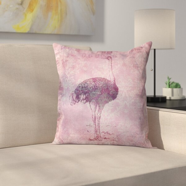 Vintage Animal Color 8 Throw Pillow by East Urban Home