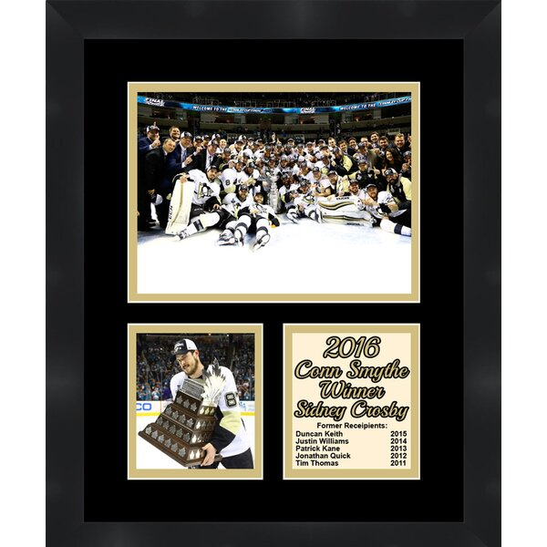 Pittsburgh Penguins Sidney Crosby 2016 Conn Smythe Winner Collage Framed Photographic Print by Frames By Mail