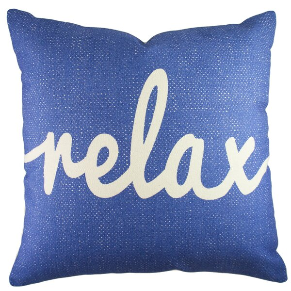 Relax Cotton Throw Pillow by TheWatsonShop