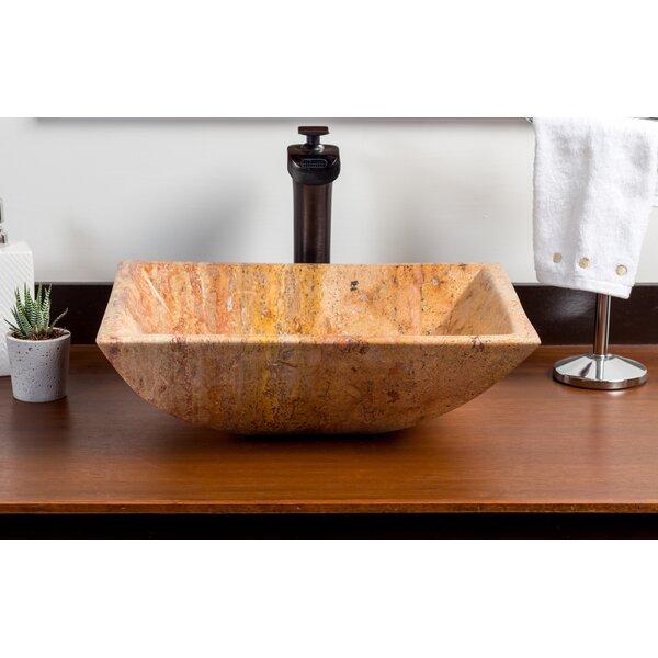 Adana Stone Rectangular Vessel Bathroom Sink by Laguna Marble