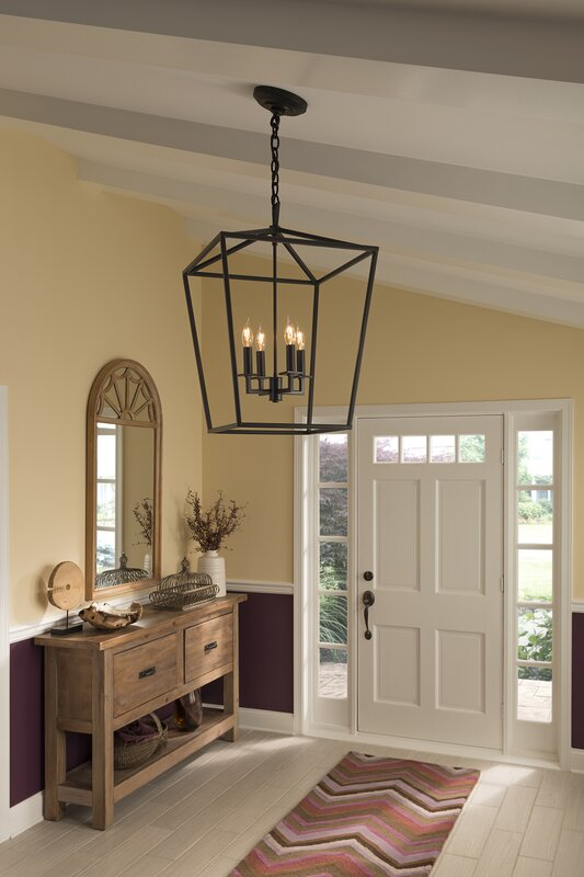 Norwell Lighting Cage 4-Light Foyer Pendant & Reviews ...