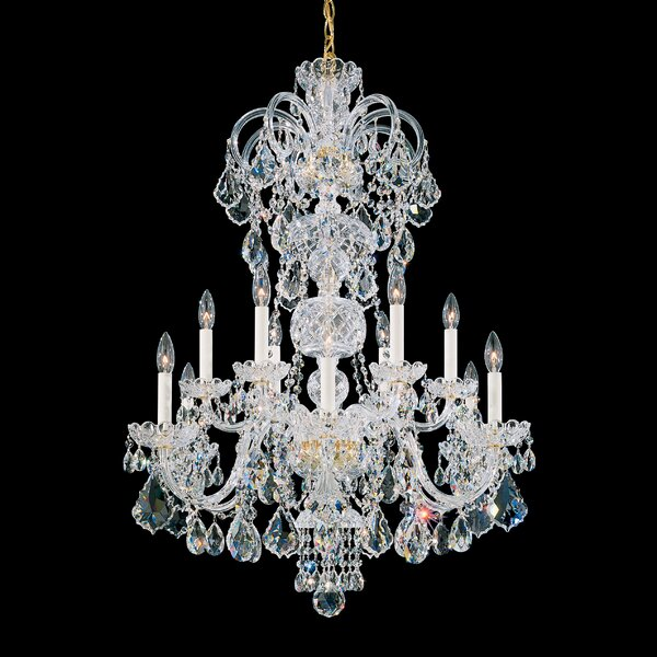 Olde World 12-Light Candle Style Tiered Chandelier By Schonbek