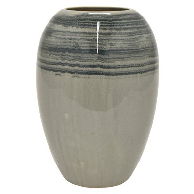 Mcneal Ceramic Table Vase Union Rustic Color Gray Size 13 H X 8 5 W X 8 5 D Shefinds