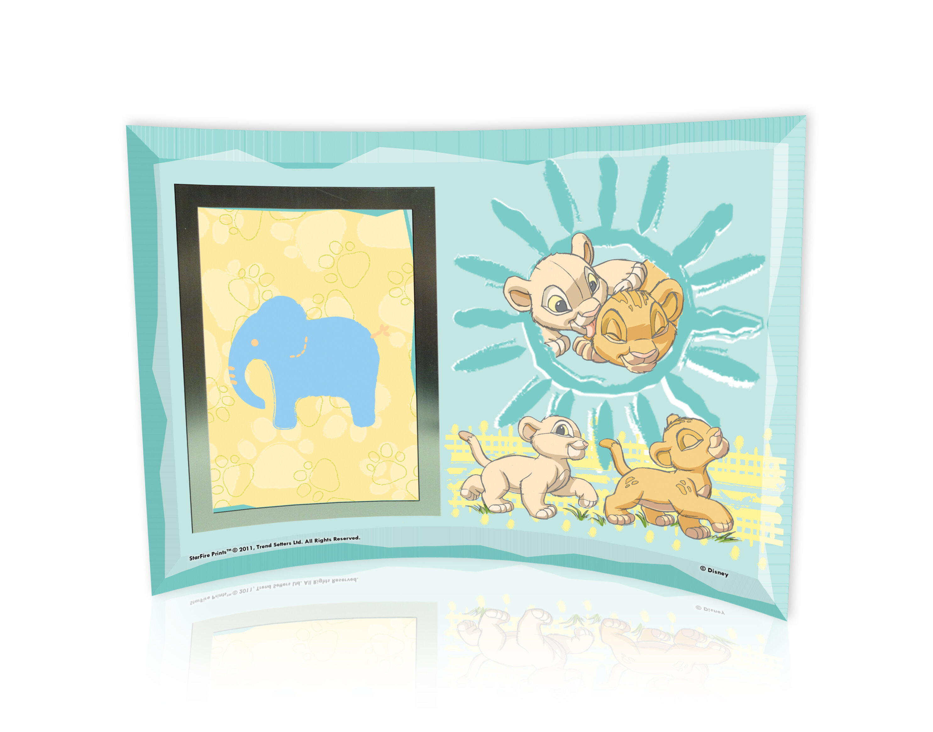 Trend Setters Lion King (Best Friends) Curved Glass Print with Photo ...