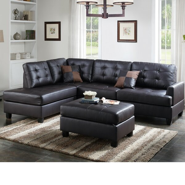 Laforge Sectional with Ottoman by Alcott Hill