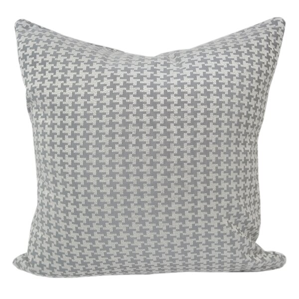 Jessamine Houndstooth Throw Pillow by Alcott Hill