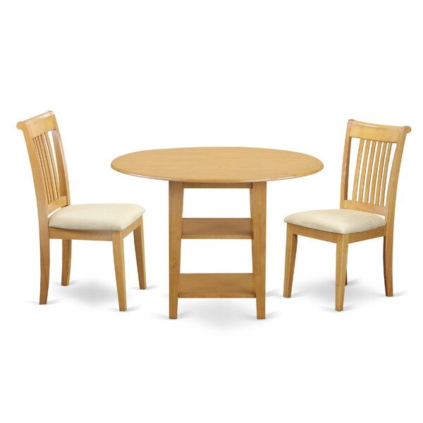 Tyshawn Drop Leaf Solid Wood Dining Set By Charlton Home