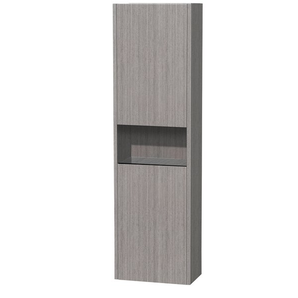 Diana 16.13 W x 56.13 H Wall Mounted Cabinet by Wyndham Collection
