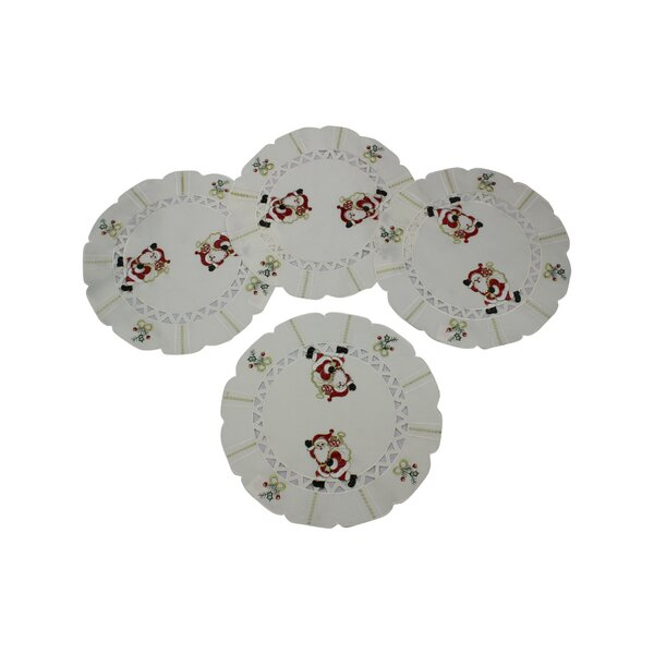 Walking Santa Placemat (Set of 4) by Violet Linen