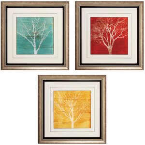 Fallen Leaves 3 Piece Framed Graphic Art Set by Darby Home Co