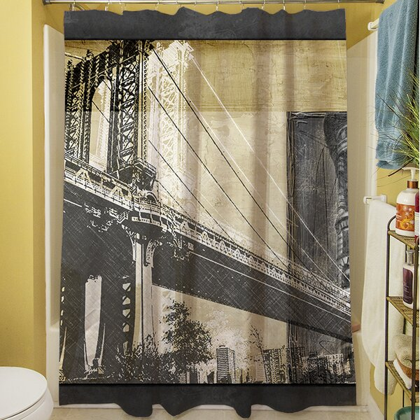 Metropolitan Collage II Shower Curtain by Manual Woodworkers & Weavers
