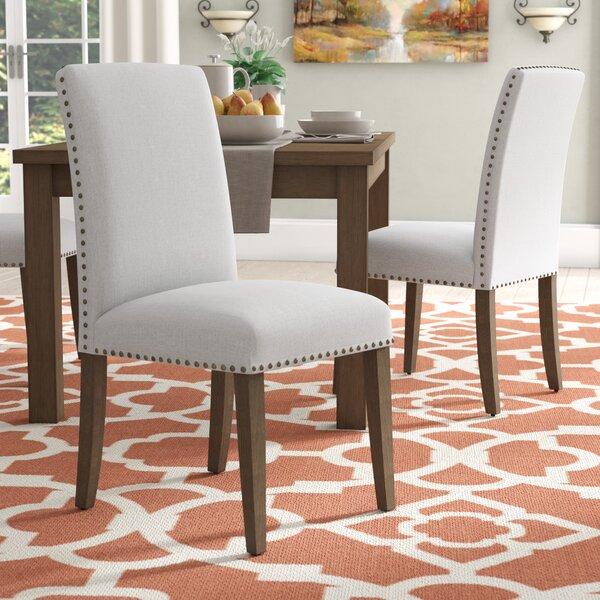 Trefethen Linen Upholstered Parsons Chair (Set of 2) by Alcott Hill Alcott Hill®