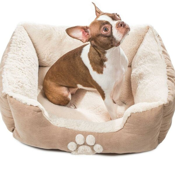 Roxi Large Square Pet Bolster with Comfortably Padded by DR International