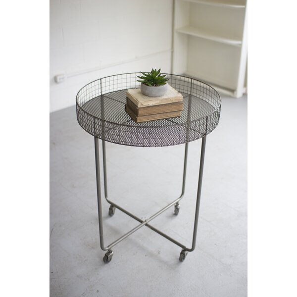 Griffing Rolling Round Wire Display Plant/Telephone Table by Williston Forge