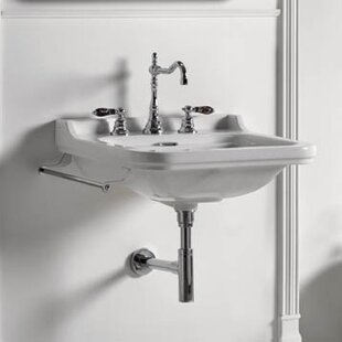 Online Reviews Waldorf Ceramic 32 Wall Mount Bathroom Sink with Overflow By WS Bath Collections