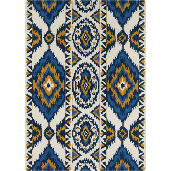 Boukra White Abstract Rug by Bungalow Rose