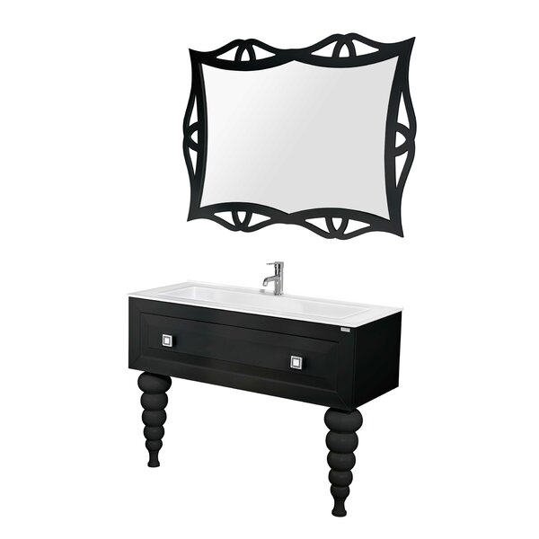 Noblitt Swarovski 47 Single Bathroom Vanity Set with Mirror by Brayden Studio