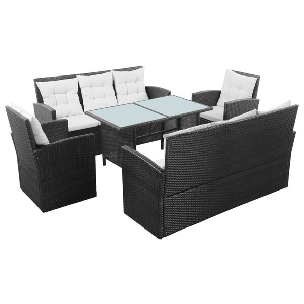 Hatteras 5 Piece Rattan Sofa Seating Group with Cushions by Ebern Designs