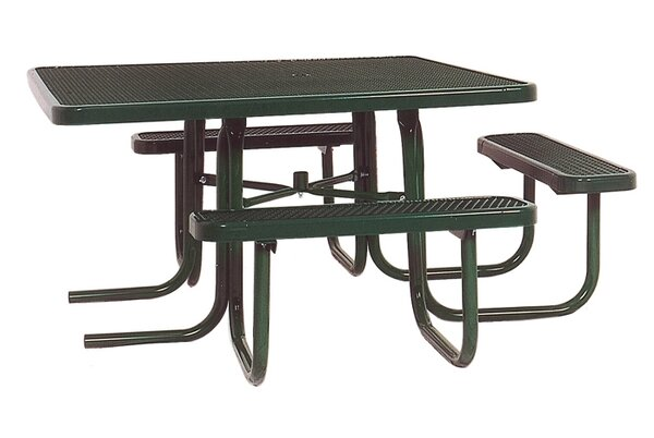3-Seat ADA Square Picnic Table with Diamond Pattern by Ultra Play