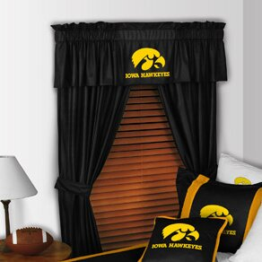 NCAA 88 University of Iowa Hawkeyes Curtain Valance by Sports Coverage Inc.
