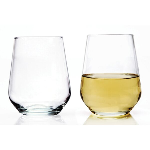 Accolade Glass 15 oz. Stemless Wine Glass (Set of 8) by Circle Glass