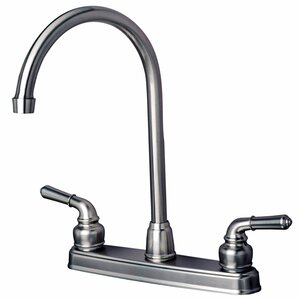 Builders Shoppe RV Mobile Home Double Handle Kitchen Faucet