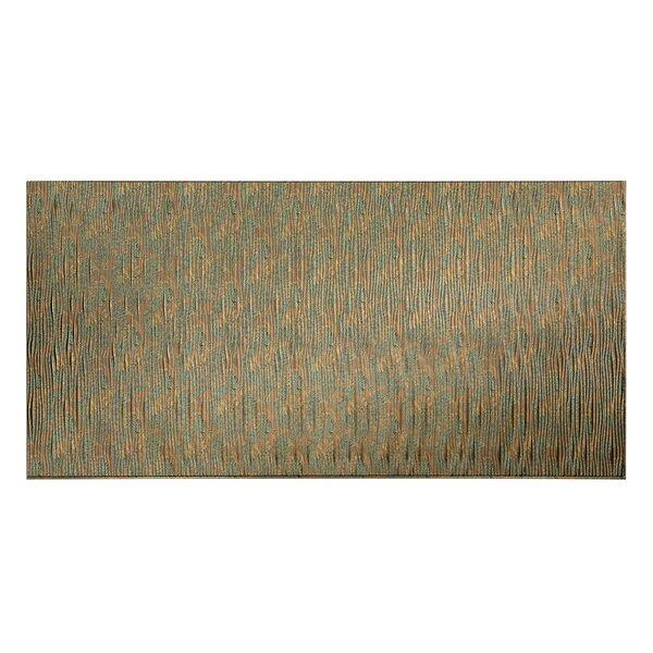 Waves Vertical 48 x 96 PVC Backsplash Panel in Copper Fantasy by Fasade