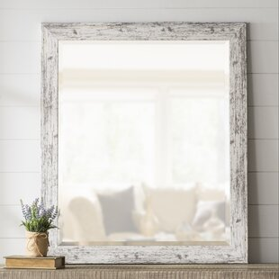 Laurel Foundry Modern Farmhouse LaGrange Rustic Weathered Farmhouse Accent Wall Mirror