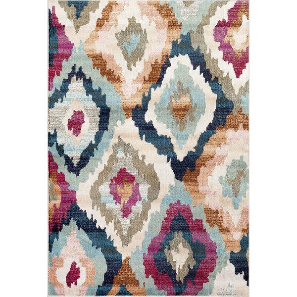 Loft Cream/Blue Area Rug by World Rug Gallery