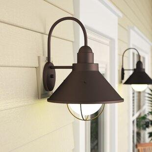 Best Reviews Castro 1-Light Outdoor Barn Light By Longshore Tides