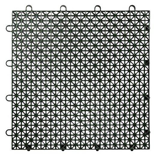 Armadillo Floor 12.63 x 12.63 Floor Tile in Black by Master Mark Plastics