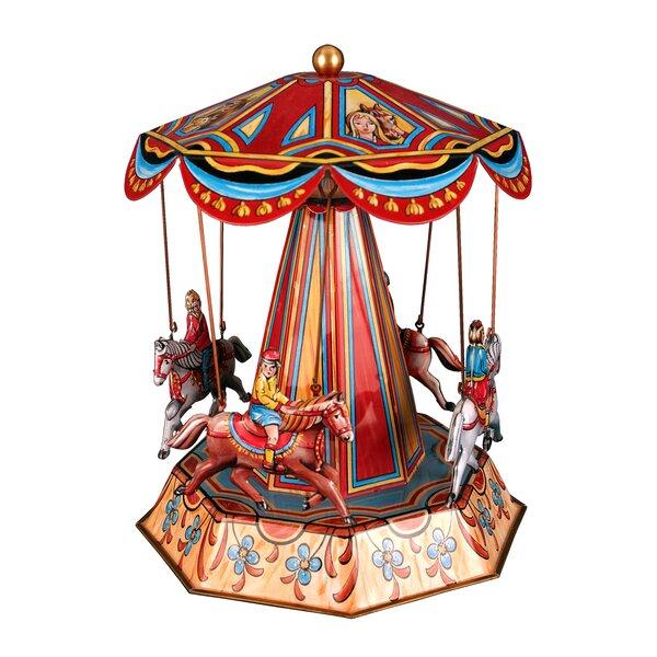 German Decorative Tin Horse Carousel by Alexander Taron