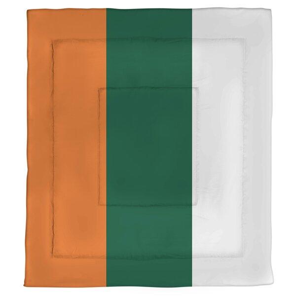College Stripes Miami Microfiber Single Reversible Comforter