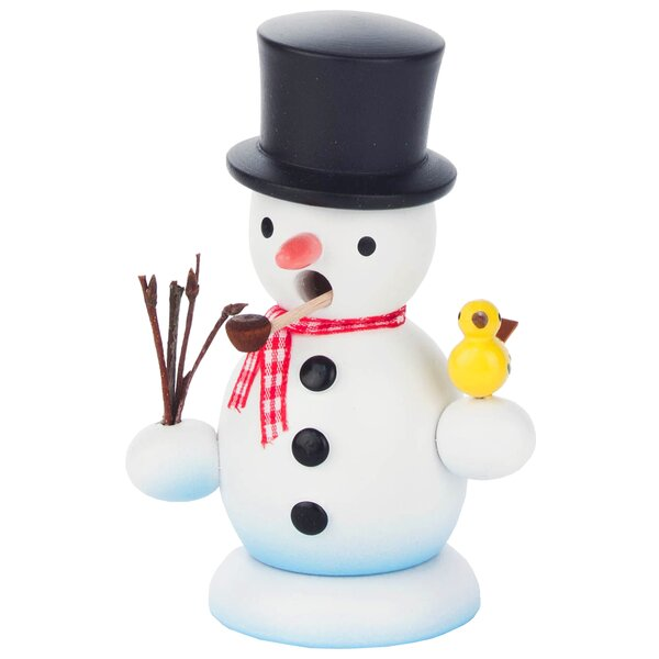Dregeno Snowman with Bird Incense Burner by The Holiday Aisle