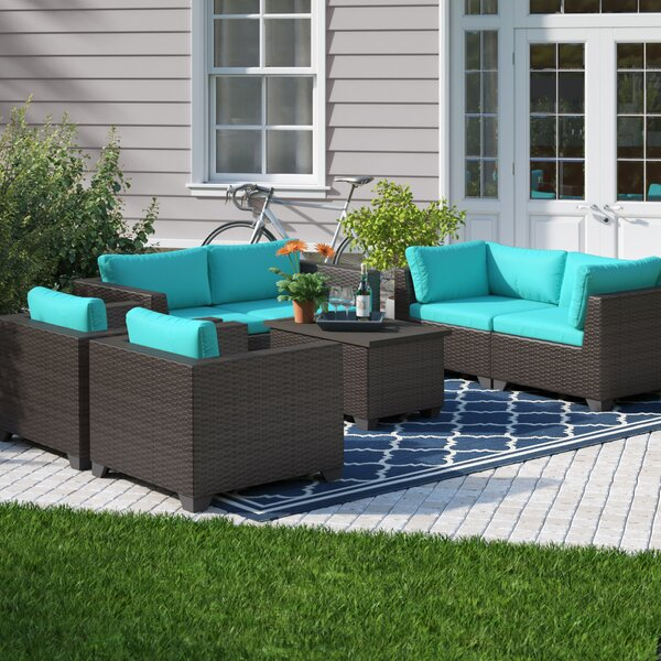 Fernando 7 Piece Sofa Seating Group with Cushions by Sol 72 Outdoor