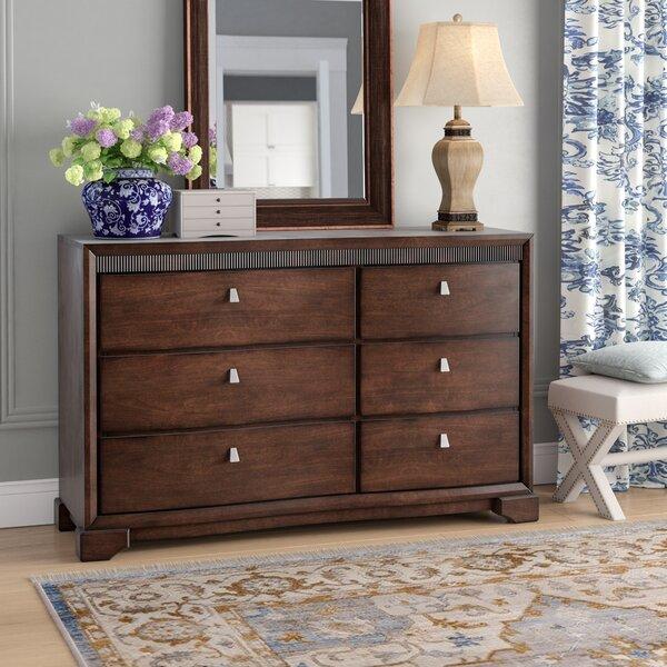 Noriega 6 Drawer Double Dresser by Alcott Hill
