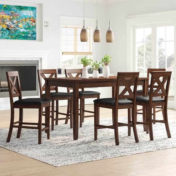 Makaila 7 Piece Counter Height Dining Set by Darby Home Co Darby Home Co