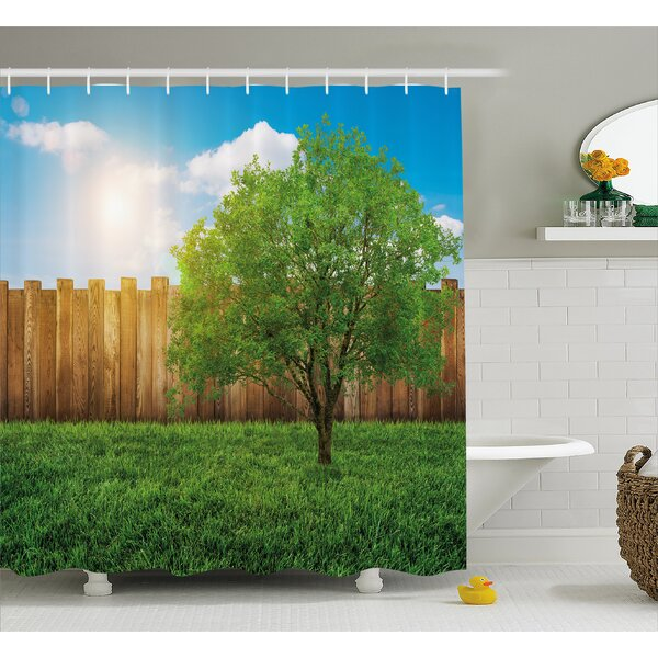 Scenery Life Tree Yard Field Shower Curtain by East Urban Home