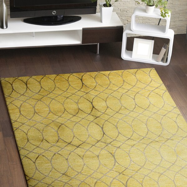 Mormugao Hand-Tufted Gold Area Rug by Meridian Rugmakers