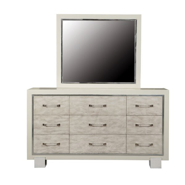 Newquay 9 Drawer Dresser with Mirror by Everly Quinn