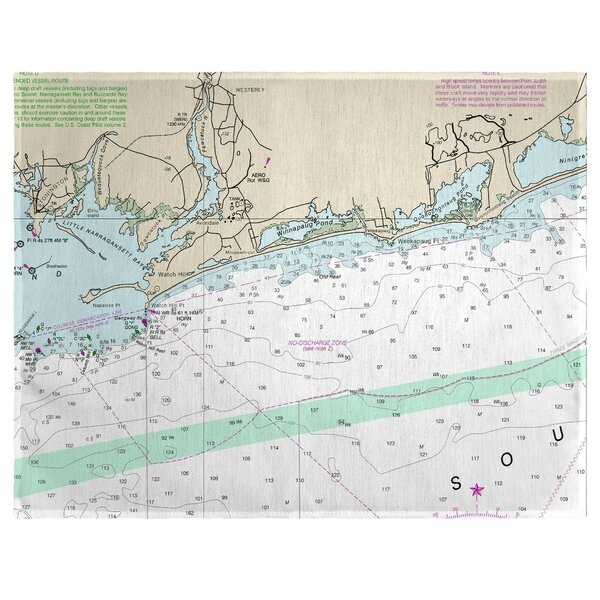 Block Island Sound, RI 18 Placemat (Set of 4) by East Urban Home