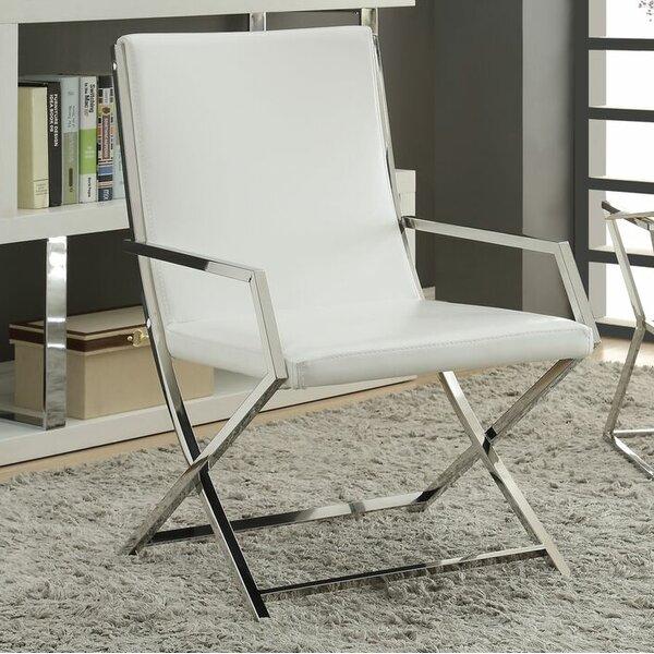 Rayborn Contemporary Metal Frame Armchair by Orren Ellis