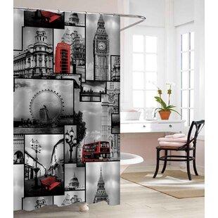 London Land Heavy Weight Waterproof Vinyl Shower Curtain