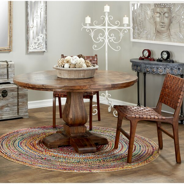 Albright 3 Piece Solid Wood Dining Set by Loon Peak