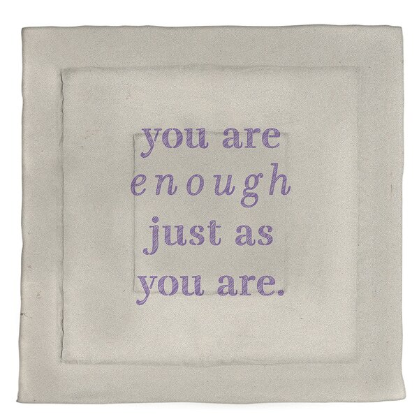 You Are Enough Quote Single Reversible Comforter