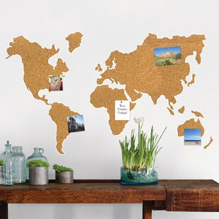 Us map cork board wayfair cork map wall mounted bulletin board gumiabroncs Gallery