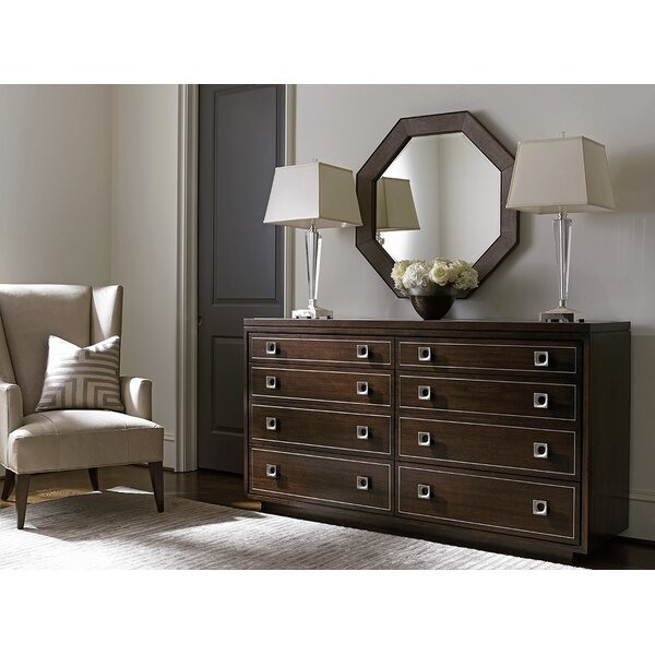 MacArthur Park 8 Drawer Double Dresser with Mirror by Lexington