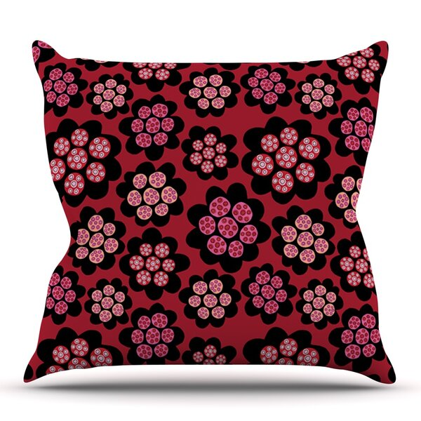 Garden Pods Repeat by Jane Smith Outdoor Throw Pillow by East Urban Home